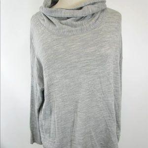 EF Merino Pullover Top L cowl neck